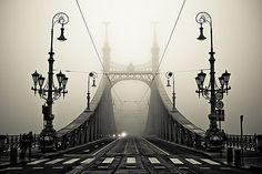 This just happens to be my favorite bridge in Budapest! The Liberty bridge over the Danube, Budapest, Hungary Mundo Design, Liberty Bridge, Foto Poster, Foto Art, Architecture Old, Beautiful Architecture, Beautiful Landscapes, Landscape Photos, Belle Photo