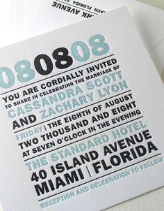 Modern Monogram elum letterpress wedding invitations Letterpress Wedding Invitations