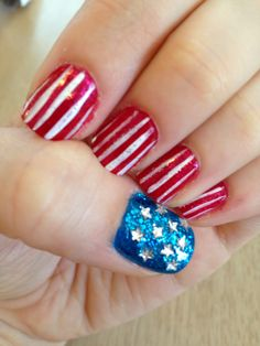 My 4th of July nails! 2014 Alissa Maletic.
