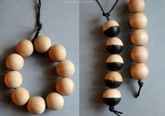 DIY: Wooden bead bracelets and necklases