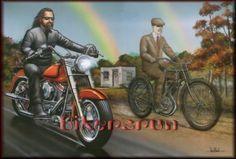 66 Ideas Classic Motorcycle Art David Mann For 2019 Harley Davidson Wallpaper, Harley Davidson Art, Baggers, Choppers, Motorcycle Art, Bike Art, Classic Motorcycle, Futuristic Helmet, David Mann Art