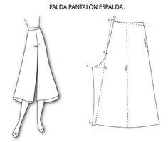 Trazado de la falda pantalón: Patrones  http://manualidades.facilisimo.com/blogs/costura/trazado-de-la-falda-pantalon-patrones_1320141.html?aco=1e5v&fba