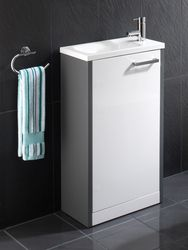 See More Aqua Cabinets W500 X D250 Narrow Wall Hung Cloakroom Unit