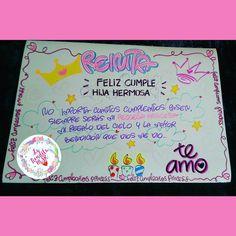 FELIZ CUMPLEAÑOS!! 🎉🎊🎁🎈❤👸😍🌼 Expresa lo que sientes 😍😍😍😜😜😜 PANCARTAS DE TODOS LOS TAMAÑOS Y COMO LA PREFIERAS!!!! #pancartas #carteleras… Sistema Solar, Ideas Para, Happy Birthday, Tumblr, Lettering, Blog, Gifts, Diy, Instagram