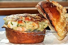 Shrimp Burger - no cilantro (parsley instead), the pit of the avocado does not stop your avocado from turning brown according to ATK (cover tightly with saran)