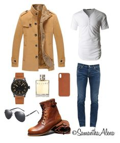"""Men fashion"" by samanthaalena on Polyvore featuring Dolce&Gabbana, LE3NO, Mido, Chanel, Native Union, men's fashion und menswear"