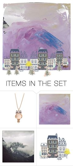 """mountain village"" by aqualyra ❤ liked on Polyvore featuring art, Collage, artset and aqualyra"