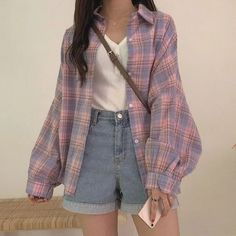 ulzzang fashion korean fashion aesthetic outfits s - Retro Outfits, Mode Outfits, Cute Casual Outfits, Girl Outfits, Fashion Outfits, Casual Clothes, Korean Casual Outfits, Vintage Summer Outfits, Fashion Ideas
