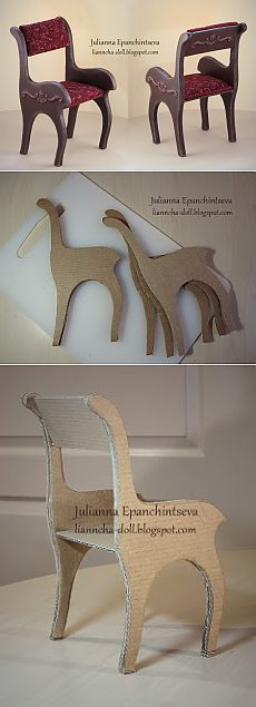 66 Ideas For Cardboard Furniture Diy Tutorials Doll Crafts Cardboard Furniture, Cardboard Crafts, Barbie Furniture, Cardboard Chair, Modern Dollhouse, Diy Dollhouse, Dollhouse Miniatures, Cardboard Dollhouse, Victorian Dollhouse