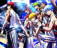 The more rainbow your hair, the more badass you are in anime. http://s1.zerochan.net/Kuroko.no.Basket.600.1612956.jpg