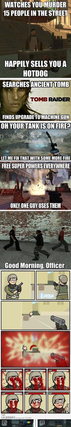 Funny pictures about Video Games And Their Logic . Oh, and cool pics about Video Games And Their Logic . Also, Video Games And Their Logic photos. Video Game Logic, Video Games Funny, Funny Games, Video Game Quotes, King's Quest, Meme Show, Gaming Memes, Gaming Tips, The Funny