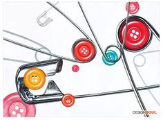 [기초디자인] 구성의 3요소-변화, 통일, 균형 | 디자인전문 입시 미술학원 디자인쏘울 Design Art, Graphic Design, Hyperrealism, Ap Art, Editorial Design, Tree Branches, Art Pieces, Behance, Drawings