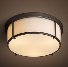 "Purchased the 9"" diameter for both lighting fixtures in the foyer and right before the bathroom.   Heath Flushmount"
