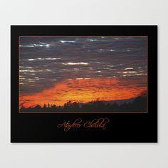 atardecer cholula Stretched Canvas by Fotografo Ruben  - $85.00