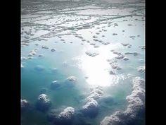 Dead Sea Salt from a Drone's eye view: Exclusive Footage Mineral Salt, Dead Sea Minerals, Dead Sea Salt, Waves, Clouds, Eye, Outdoor, Outdoors, Ocean Waves