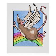 Rat Angel Poster