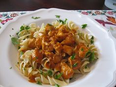 Smoked Paprika Chicken with Egg Noodles