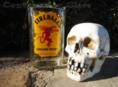Your mantle just got a spicy  upgrade with this #Fireball Cinnamon #Whisky Bottle Vase
