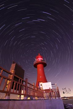 The Lighthouse at the center of stars by Keun-Hong Park, via 500px.