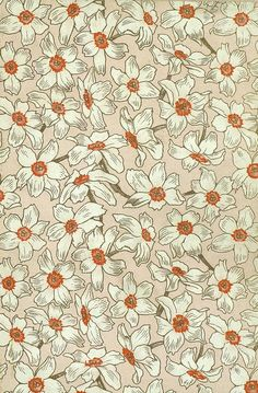 "Daffodil endpaper, ""Travels through Asia with the Children,"" 1898."