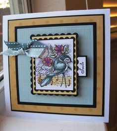 This is brought to you by the awesome gallery being featured in today's Featured Stamper challenge!  A wonderful collection from a very talented stamper: Danielle (aka) dlounds.  Here is her card I chose to case: http://www.splitcoaststampers.com/gallery/photo/711293?cat=500&ppuser=54696 Kept the layout and changed the color scheme and stampset.  What a lovey, clean style she has!