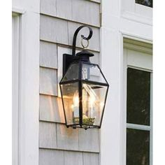 Old Colony Black Outdoor Wall Mount Norwell Wall Mounted Outdoor Outdoor Wall Lighting O - $164.30