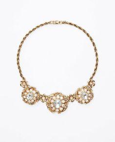 Baroque Flower Statement Necklace