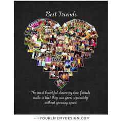 Best friends x3 =3 bff gifts! ❤️16x20 with 55 photos ❤️best friend heart collage by #yourlifemydesign #etsy #etsyhunter #etsysellers #cute #bf #love #awesome #goodtimes #goodfriends #smile #besties #friends #best #chill #funny #forever #bestfriend #bff #memories  #instagood #goodtime #bestfriends #lovethem #fun #party #happy #friendship #friend #photooftheday sent via @latergramme