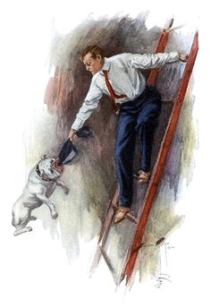 Harrison Fisher, from The day of the dog, by George Barr McCutcheon, New York, 1904