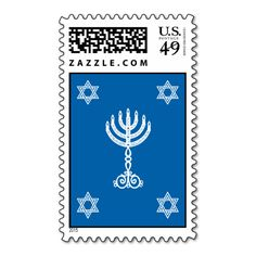 Hanukkah Motif Stamp Check out Hanukkah Motif Series for all the matching products in this design. ALL PRODUCTS ARE FULLY CUSTOMIZABLE. Modern contemporary Hanukkah designs using graphic motifs of the menorah, dreidel, Star of David and torah. Also matches the: Hanu...read more