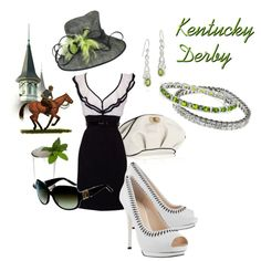 I would love to go to the Kentucky Derby someday. Love horseracing and love big hats!!! (Derby!, created by ggl62 on Polyvore)