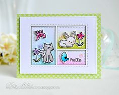 My Joyful Moments: Pretty Pink Posh & Lawn Fawn Card by Kay Miller.