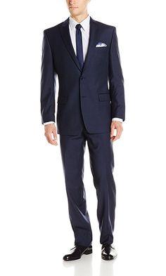 Suit For Men reduced price Calvin Klein Mens Two-Button Peak-Lapel Suit Calvin Klein Men, Mens Suits, Fashion Brands, Suit Jacket, Menswear, Plaid, Mens Fashion, Navy, Button