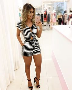 Cute Rompers for Women Fashion 2018, Look Fashion, Fashion Outfits, Womens Fashion, Fashion Design, Fashion Trends, Bon Look, Summer Outfits, Casual Outfits
