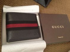Gotta earn dat stripe Gucci Wallet, Leather Wallet, Belts, Buy And Sell, Bracelets, Polyvore, Ebay, Products, Fashion