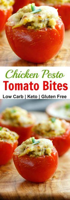 Chicken Pesto Tomato Bites Low Carb