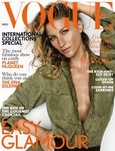 Gisele Bündchen : Cover girl of Vogue UK, she talks about her relationship with Tom Brady!