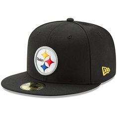 d22b79971 Pittsburgh Steelers New Era Omaha 59FIFTY Fitted Hat - Black