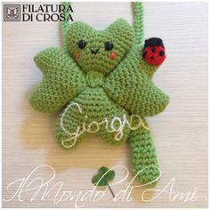 """Portafortuna da culla/cameretta personalizzato, #crochet #uncinetto #amigurumi, realizzato con filato """"Zara"""" e """"Zara Plus"""" Filatura di Crosa"""