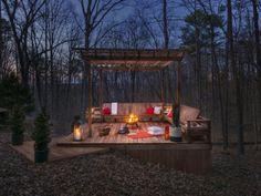 Deck set in the landscape