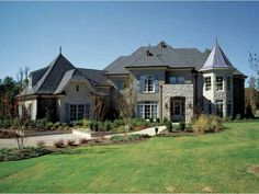 Eplans French Country House Plan - Work from Home - 6130 Square Feet and 5 Bedrooms from Eplans - House Plan Code HWEPL12498