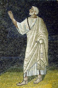 San Pietro, mosaico, intorno a metà del V secolo, Mausoleo di Galla Placidia, Ravenna Ravenna Mosaics, Christian Art, Easter, Statue, Reading, Painting, Byzantine Art, Religious Art, Catholic Art