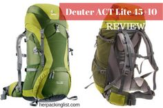 8a217eeed38d Meet Cailee and Her Deuter ACT Lite 45+10 Backpack Review