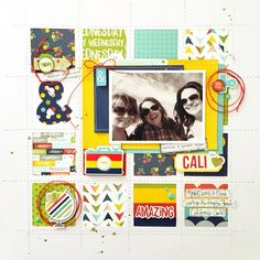 CALI - Scrapbook.com - Made with Simple Stories Life Documented Collection.