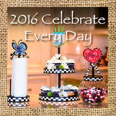 """Click here to view the blog with great decorating ideas using the Round Top Collection """"Celebrate Everyday"""" finials and bases!"""