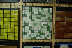 World of Tile:  Retro Renovation- Green tile at center. Love it!