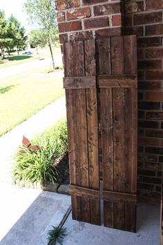 Custom Wood Shutters Rustic Aged Weathered Wooden Shutter Exterior Window Pair New House