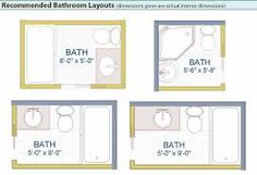 Image result for small bathroom dimensions and plans