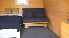 Devonshire small 2 seat sofa bed  with storage drawer.