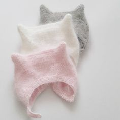 Newborn Kitties  Love love looove knitting these up  #angorakittycap #meriloubaby